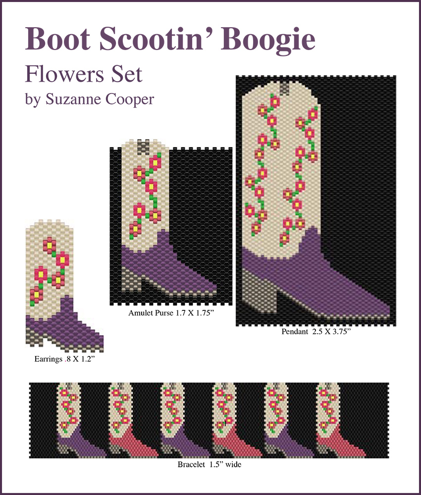Boot Scootin' Boogie Boot Flowers Set