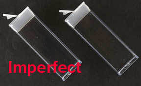 3 inch Clear Flip Top with Cap (10 ea) (Imperfect)