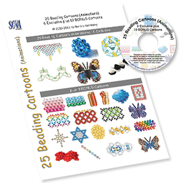 25 Beading Cartoons (Animaions) - 6 Exclusive plus 19 BONUS Cart