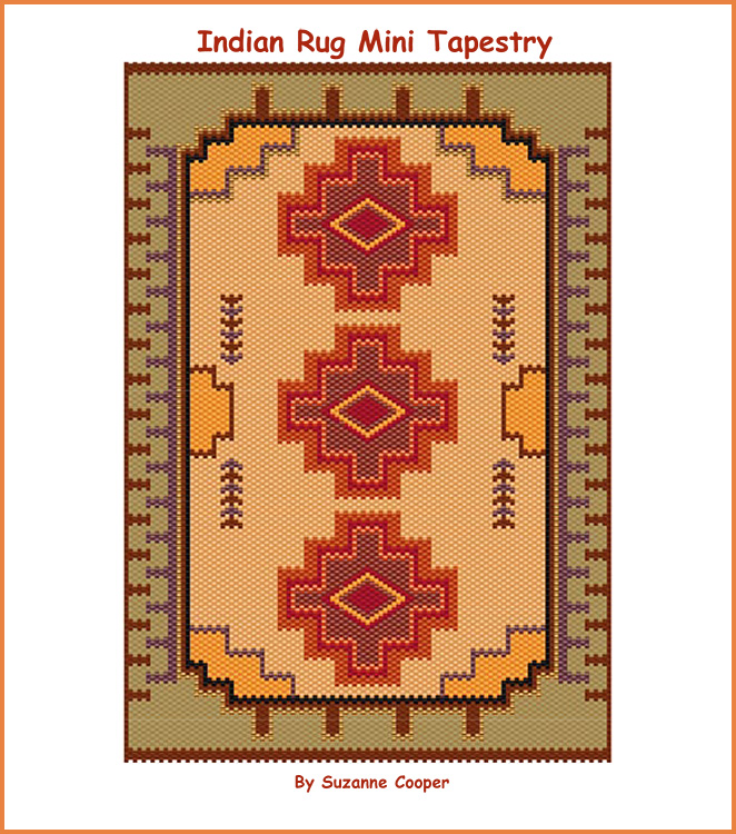 Indian Rug Mini Tapestry