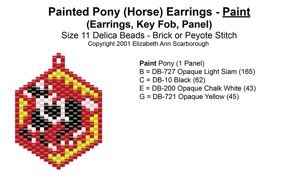 Painted Pony (Horse) Earrings - Paint