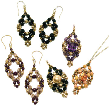 Antonia Earrings and Pendant