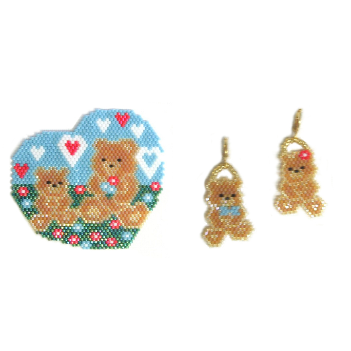 A Beary Happy Mother's Day Pendant & Earrings