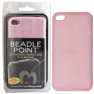 Cell Phone Cover, Beadle Point Light Pink, iPhone 4/4s)