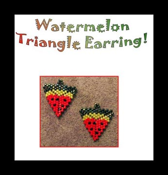 Watermelon Triangle Earring