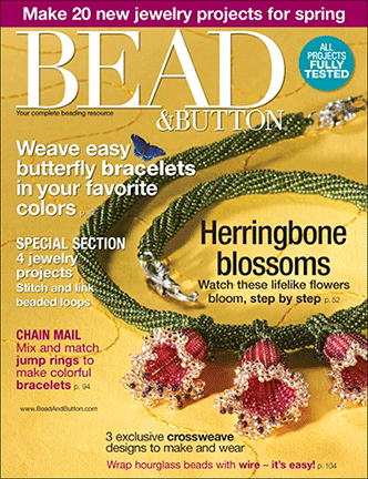 084 Bead & Button Magazine, 2008 April, #84 (NEW)
