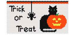 Halloween Cat Bag & Earrings
