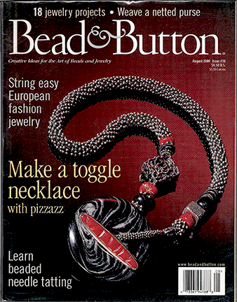 038 Bead & Button Magazine, 2000 August, #38 (Used)