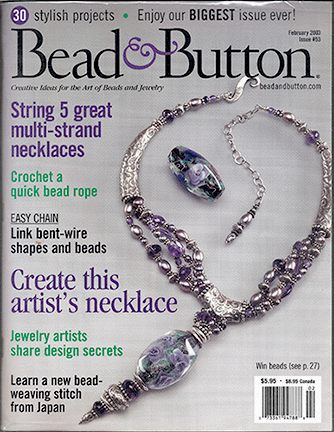 053 Bead & Button Magazine, 2003 February, #53 (Used)