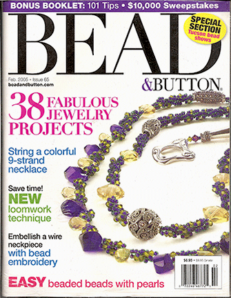 065 Bead & Button Magazine, 2005 February, #65 (Used)
