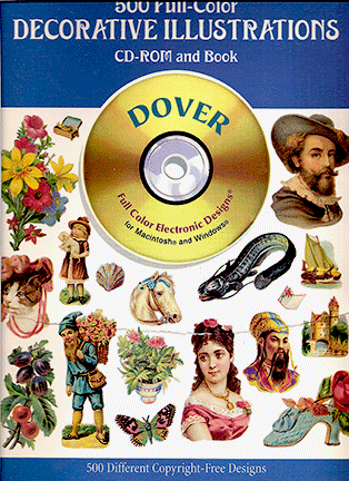 500 Full-Color Decorative Illustrations CD-Rom and Book