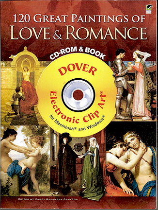 120 Great Paintings of Love & Romance CD-Rom and Book
