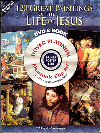 120 Great Paintings - Life of Jesus DVD-Rom and Book