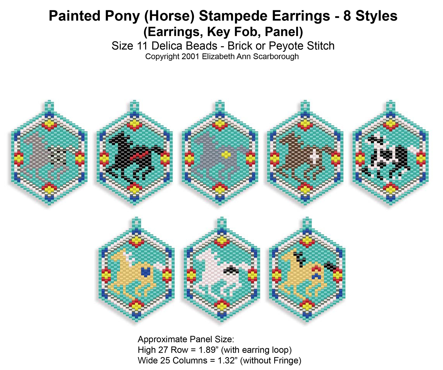 Painted Pony (Horse) Stampede Earrings 8 Styles