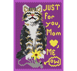 Dutitful Kitty Daughters Mothers Card