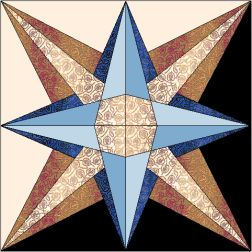 423 Star Of Galilee 12 inch Paper Piecing Quilt Design