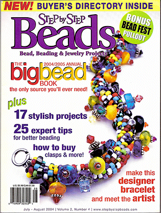 2004 Jul-Aug, Vol 2 No 4, Step by Step Beads Magazine (Used)