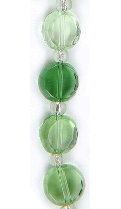"Blue Moon Color Coordinates Glass Beads 7"" Inch Strand, Green, M"