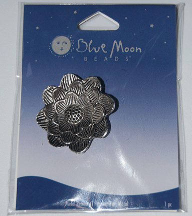 Blue Moon Beads, Pendant, Metal Flower #1 35mm (1)