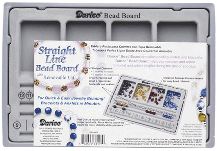 "Darice 10.5"" x 7"" Flocked Bead Board with Lid"