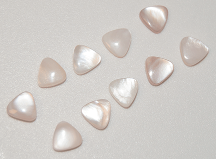 Cabochon, Mother of Pearl, Natural, Triangle, 8mm (10)