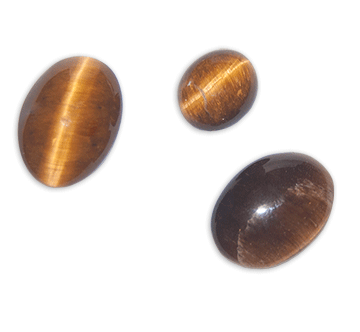 Cabochon, Tiger Eye, Oval (3)