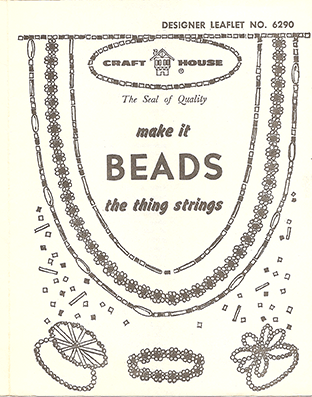 Craft House - Make it Bead - the thing strings, Designer Leaflet