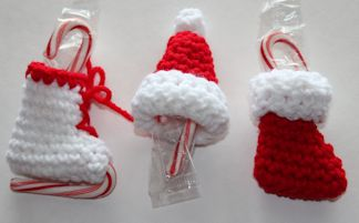 Mini Candy Cane Holder Christmas Decorations