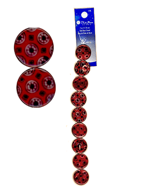 "Blue Moon Beads, Shell, Design Disc #2, Red 7"" (1)"