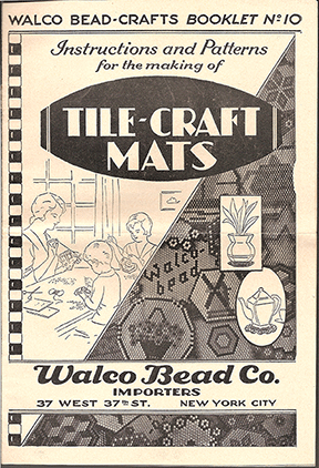 Walco Booklet No 10, Tile Craft Mats, 1942 (Used)