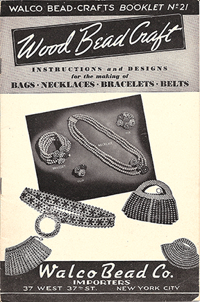 Walco Booklet No. 21, Wood Bead Craft, 1937 (Used)
