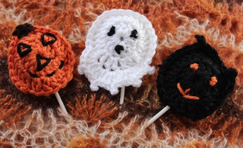 Halloween Sucker Covers and Finger Puppets