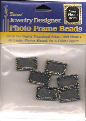 Photo Frame Beads, 24x14mm Antique Gold (6 pieces per Package)