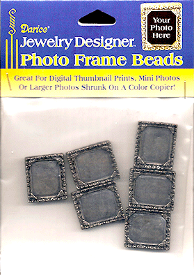 Photo Frame Beads, 24x21mm Antique Gold (6 pieces per Package)
