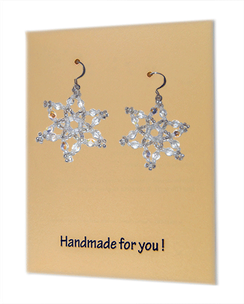 Snowflake Earring Earrings, Medium