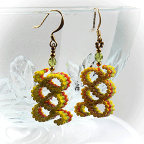 Ribbon Candy Earrings (Yellow, Green, Orange)