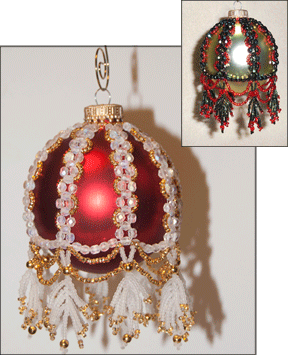 """Alice"" Beaded Christmas Ornament Cover 1"