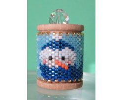 Winter Snowman Spool Ornament