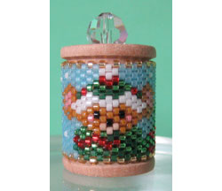 Winter Mouse Spool Ornament