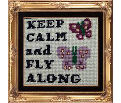 Keep Calm Butterflies Sampler