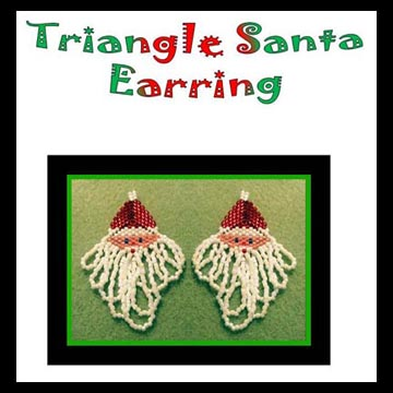 Triangle Santa Claus Earrings CHART ONLY