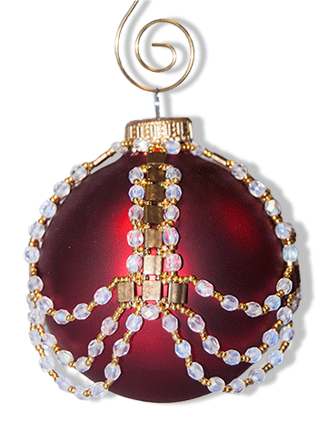 Tila & Crystal Ornament Cover