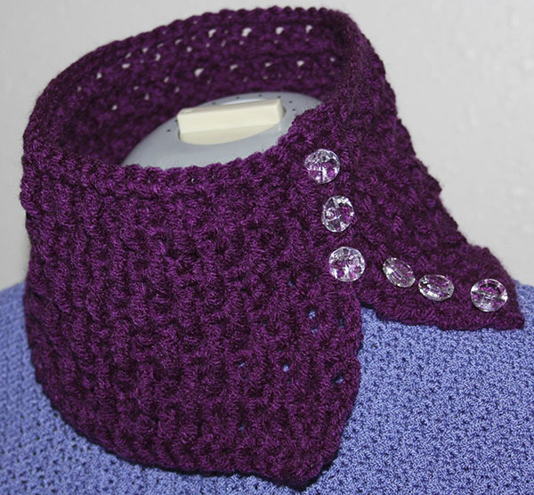 Plum Ripple Neck Warmer Cowl Scarf