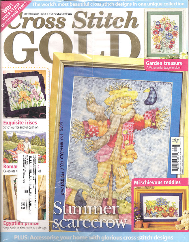 2008 October Issue 8 Cross Stitch Gold Magazine