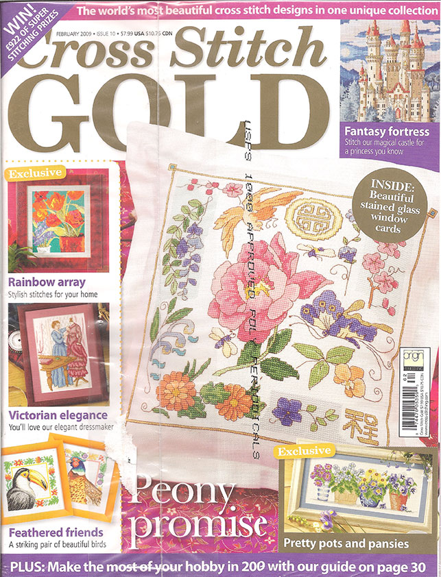 2009 February Issue 10 Cross Stitch Gold Magazine