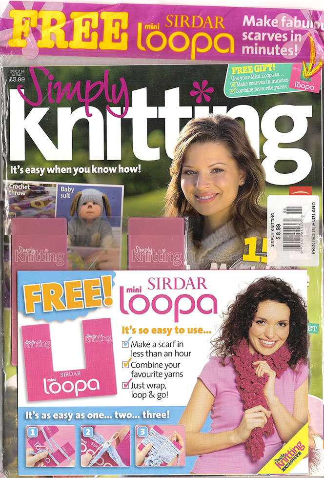 2006 April Simply Knitting Magazine