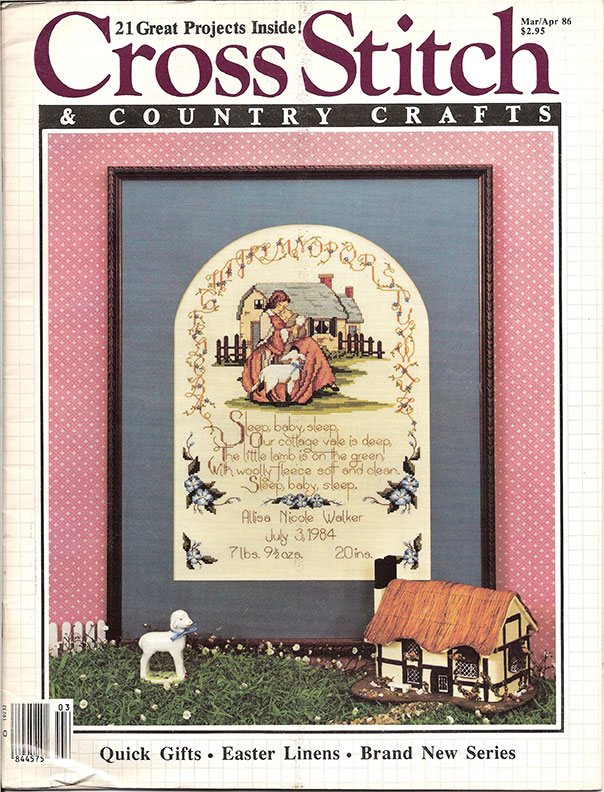 1986 Mar/Apr Cross Stitch & Country Crafts