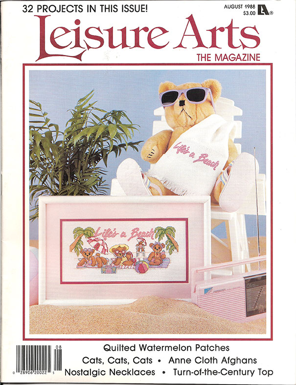 1988 August Leisure Arts the Magazine
