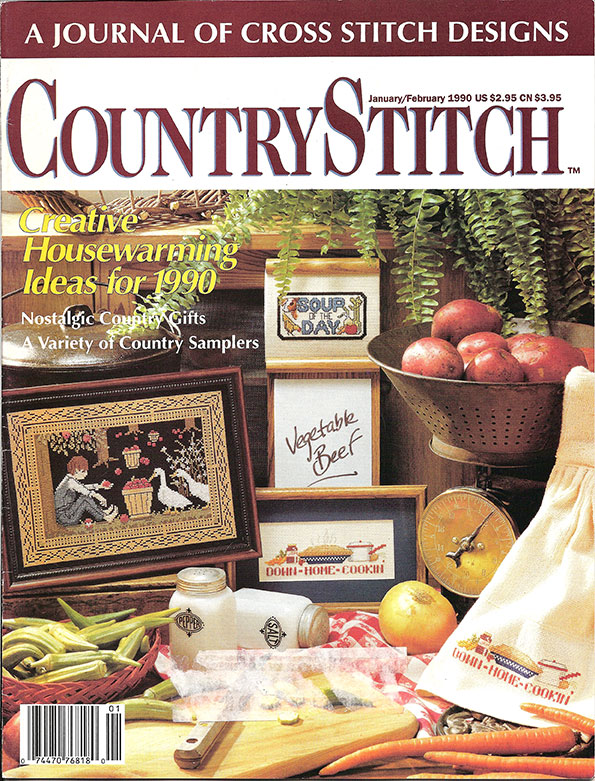 1990 Jan/Feb Country Stitch Magazine