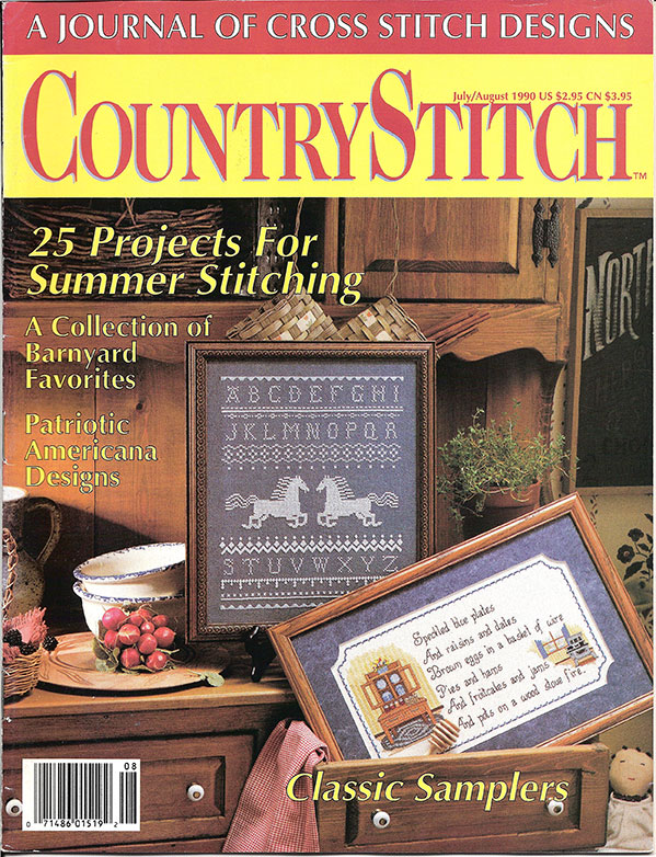 1990 Jul/Aug Country Stitch Magazine